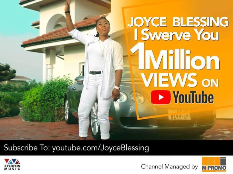 Joyce Blessing's 'I Swerve You' clocks 1Million Views on